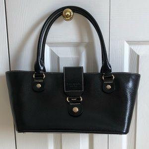Kate Spade black patent leather tote bag